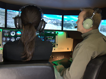 Wings of Eagles Aviation | Redbird Full Motion Flight Simulator