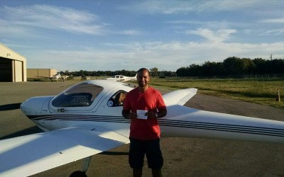 Nima Hayati Receives His Private Pilot License
