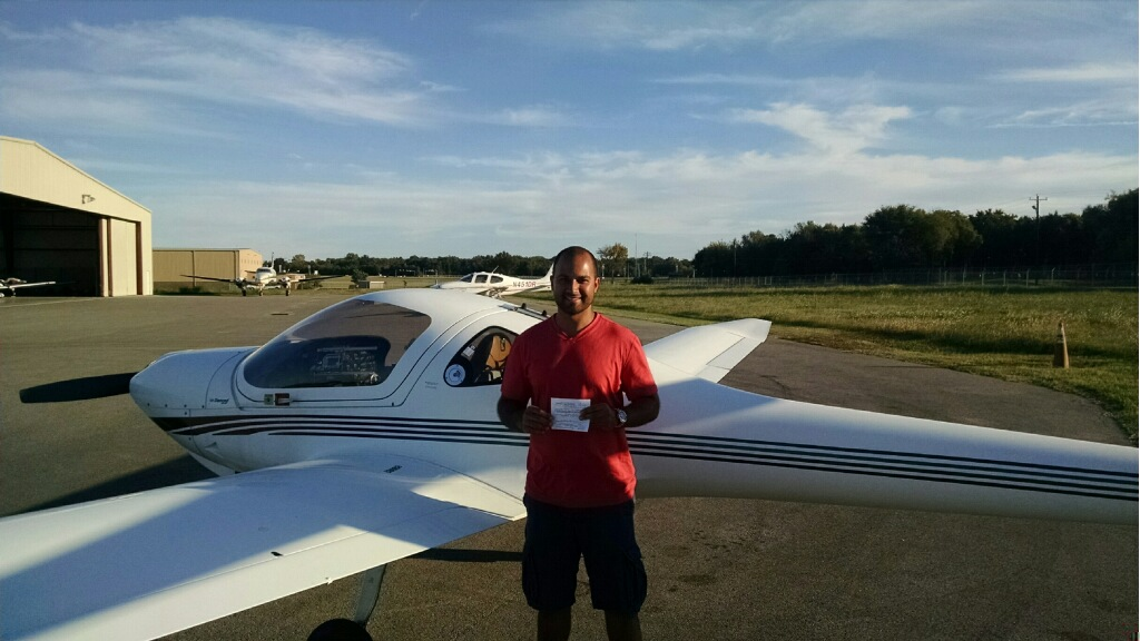 Nima Hayati Receives His Private Pilot License