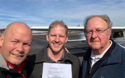 Michael Crow Achieves Private Pilot Certificate